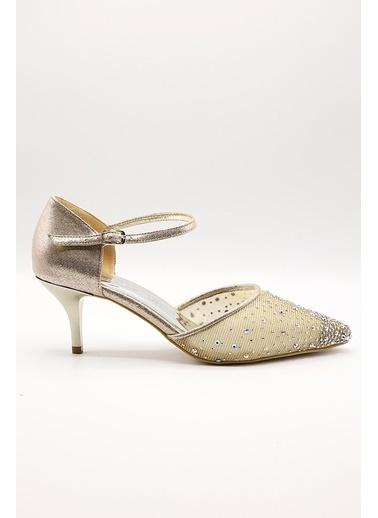 La scada Mr5285 Dore Kadın Abıye Ayakkabı Altın